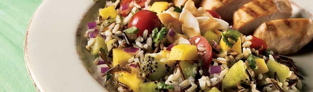 delices de la foret salade de riz legumes marines