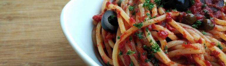 delices de la foret spaghetti alla puttanesca