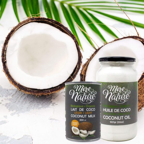 Produits de noix de coco biologiques