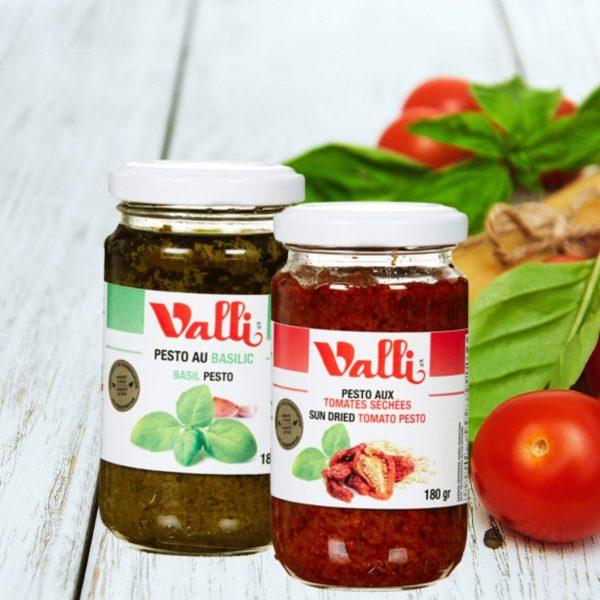 Tomates et Pestos